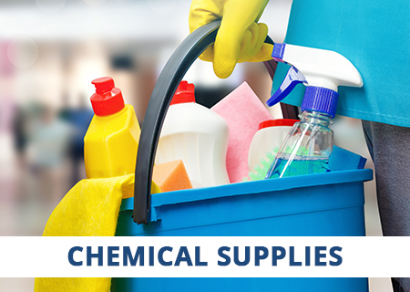 CaterQuip stocks a full range of high-quality cleaning chemicals.