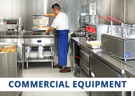 CaterQuip supplies a full range of Commercial Equipment from all the leading brands including Food Preparation Equipment, Cooking Equipment, Refrigeration, Warewashing, Shelving & Benching, Bakery and Laundry Equipment.