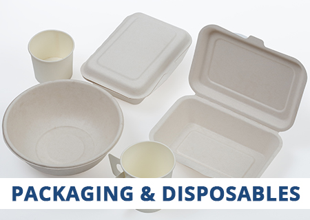 Talk to CaterQuip for all your Packaging & Disposables needs, including Party, Cafe & Restaurant, and Amenity.